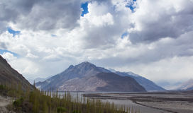 The shade of light hitting the rocky mountain. The shade of light hitting the rocky mountain with snow on the top, Leh Ladakh Royalty Free Stock Photography