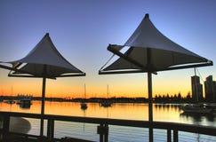 Shade Sails At Southport Royalty Free Stock Images