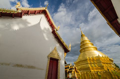 Shade and shadow of Thai Temple. With blue sky Stock Photo