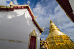 Shade and shadow of Thai Temple. With blue sky Stock Photography