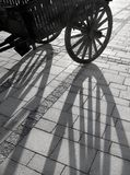 Shade on sidewalk. From a retro cart stock photography