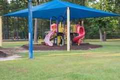 Shade structure playground Houston, Texas, USA Stock Images