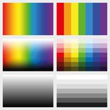 Shade Tabs Color Grayscale Gradients Royalty Free Stock Photography