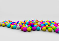 Shaded balls. 3d image: shaded yellow blue red pink spheres Stock Images