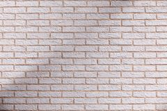 Shaded brick wall Royalty Free Stock Images