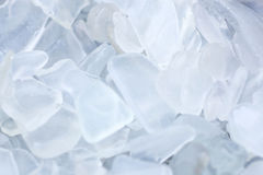 Shaded Clear Fragments of Beach Glass Stock Image