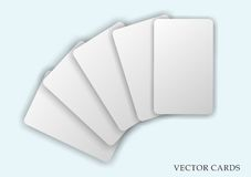 Shaded empty vector cards set Royalty Free Stock Image