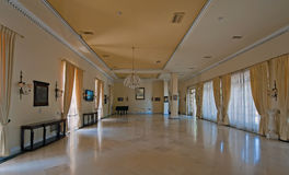Shaded interior of one of rooms in Achilleion, Corfu, Greece Royalty Free Stock Photography