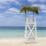 Shaded Lifeguard Tower on West Bay Beach Stock Photos