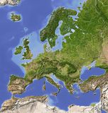 Shaded relief map of Europe stock illustration