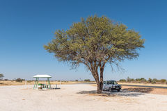 Shaded resting place between Mariental and Kalkrand Royalty Free Stock Photo