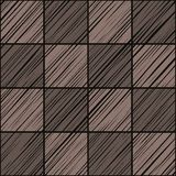 Square tile, background, seamless, graphite gray, warm, vector. The shaded squares on the diagonal taupe color on a dark gray field. Wood texture, shading Royalty Free Stock Image