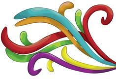 Shaded Swirl shape background Royalty Free Stock Images