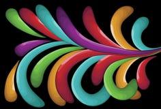 Shaded Swirl shape background Stock Photo
