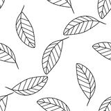 Shadeful forest - Seamless pattern of a lot of simple mango leav Royalty Free Stock Image