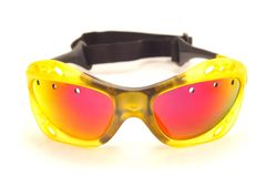 Shades. Protective eyeware against  a white background Stock Photo