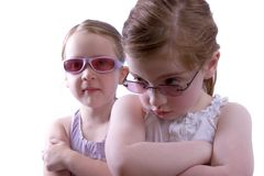 Shades. Little girls in sunglasses Royalty Free Stock Photo