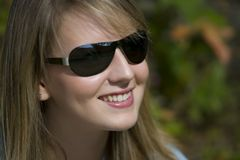 Shades And A Big Smile Stock Photo