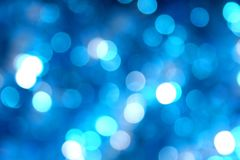 Blue blurred lights background effect royalty free stock images