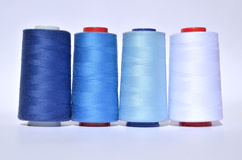 Shades of blue thread Stock Image