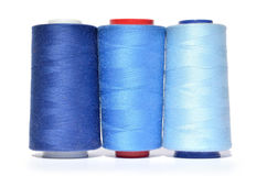 Shades of blue threads Stock Photo