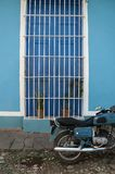 Shades of blue, Trinidad. Colors and architecture in the streets of Trinidad, Cuba Stock Image