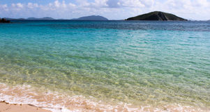 Shades of blue. Varying shades of blues in the water. honeymoon at Peter Island stock photography