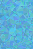Shades of cyan abstract polygonal geometric background -- low poly. Royalty Free Stock Photo