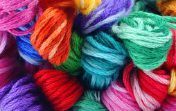 Shades embroidery floss. A great view of a selection of shades of embroidery floss Stock Image