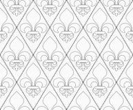 Shades of gray contoured Fleur-de-lis Royalty Free Stock Photo