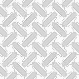 Shades of gray double T shapes with offset Royalty Free Stock Photography