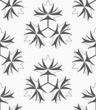 Shades of gray maple leaves with three turn Stock Photos