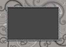 Shades of Gray Paisley Pattern Background Stock Photo
