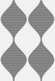 Shades of gray striped bulging waves merging Royalty Free Stock Image