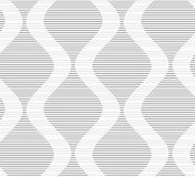Shades of gray striped bulging waves Stock Photography