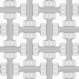 Shades of gray striped double T shapes Stock Image