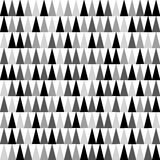 Shades of grey, black and white triangles background pointing upward. Seamless pattern. Vector EPS 10 Stock Photography
