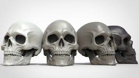 Shades of grey skulls Royalty Free Stock Photos