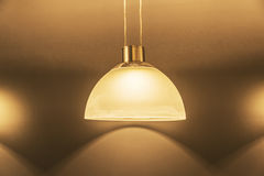 Shades Lamps shine. And give a beautiful light Royalty Free Stock Image