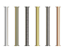 Shades of metal pipes with joints Royalty Free Stock Photography