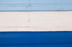 Shades of navy and, sky blue ,white strip on wood Stock Photos