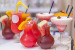 Shades of refreshments. Refreshments at a party stock photography