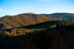 Shades at rolling hills of Zeljin mountain Stock Image