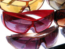 Shades in Shades. Cool n' trendy colorful shades for sale in an accessories shop Stock Photography