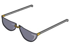 Shades/Sunglasses. The is a graphic, computer illustration of a pair of UV-filtered sunglasses to block the sun's harmful effects to the eyes. The render Royalty Free Stock Images