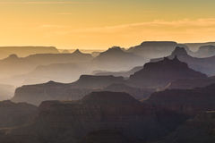 Shades during a sunset in Grand Canyon National Park, Arizona. Shades of Grand Canyon, sunset, Arizona Royalty Free Stock Images