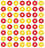 Shading circle. A red circle and the circle of yellow background Royalty Free Stock Photo