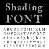 Shading font Stock Image