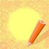 Shading pencil art design Stock Image