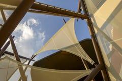 Shading sails deitail at Kwait Pavilion, EXPO 2015 Milan Royalty Free Stock Images